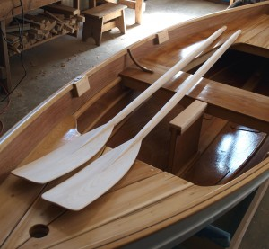 how to build wood oars